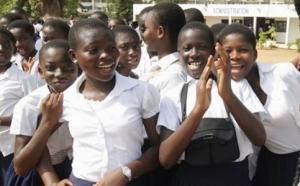 Jeunes filles collégiennes dans le région du Zanzan. – source AIP (aip.ci)