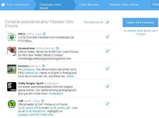 Les comptes twitter les plus populaires