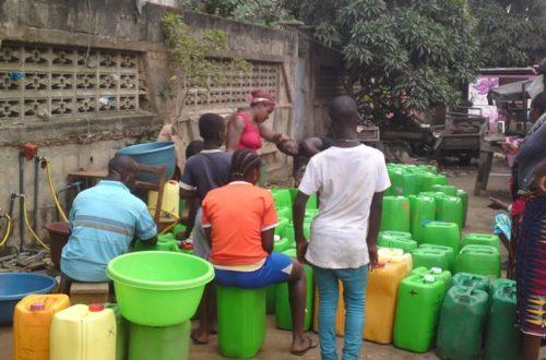 Article : À Abidjan l'eau aussi ne circule plus dans les robinets