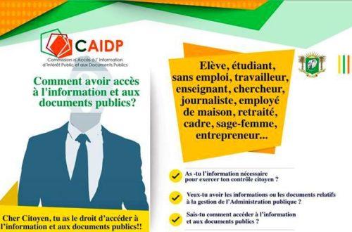 Article : MeetUp UNBCI – CAIDP : l'accès aux informations publics, un moyen de contrôle citoyen